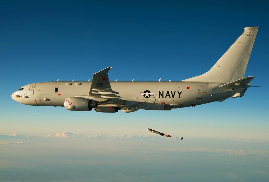 Ameriško mornariško letalo P-8 poisedon
