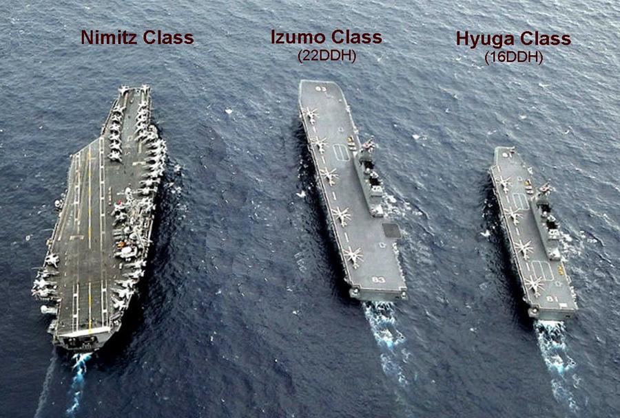 Primerjava nosilk razreda nimitz, izumo in hyūga
