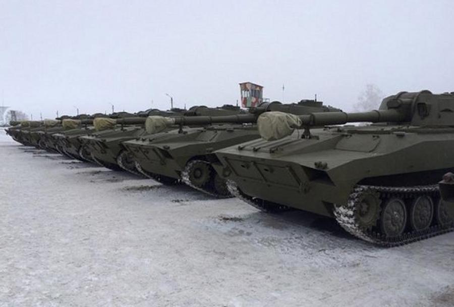 Ukrajinske samovozne havbice 2S1 122mm