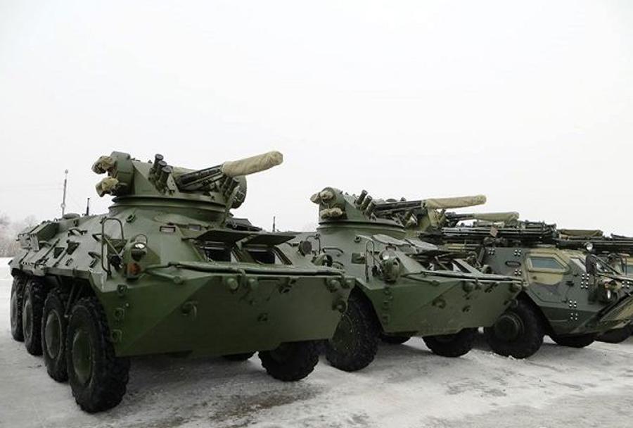 Ukrajinski oklepniki BTR-3E1 8x8