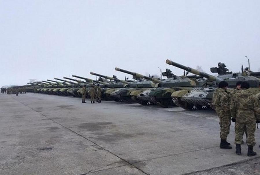 Ukrajinski tanki T-64BM bulat