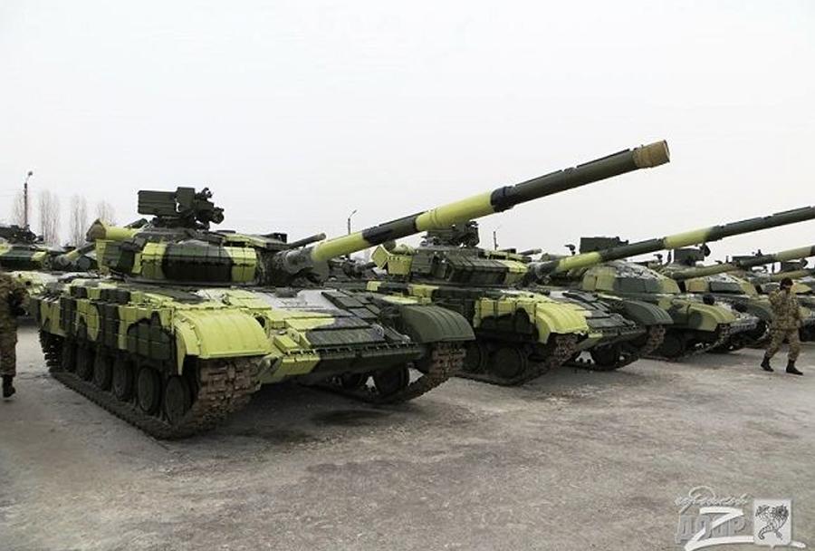Ukrajinski tanki T-64BV