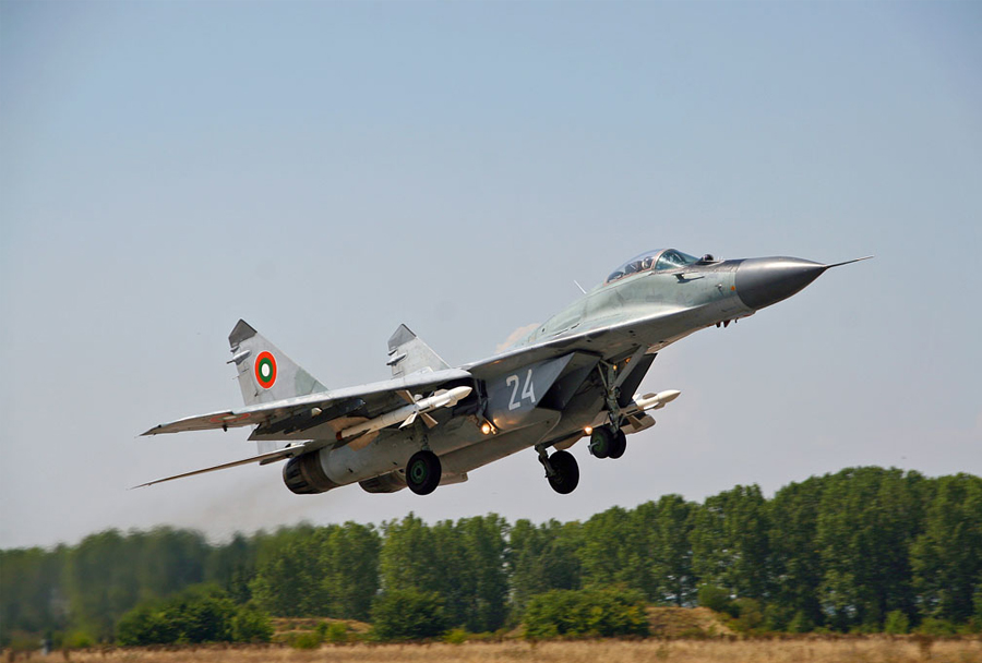 Bolgarski lovec MiG-29 fulcrum-A