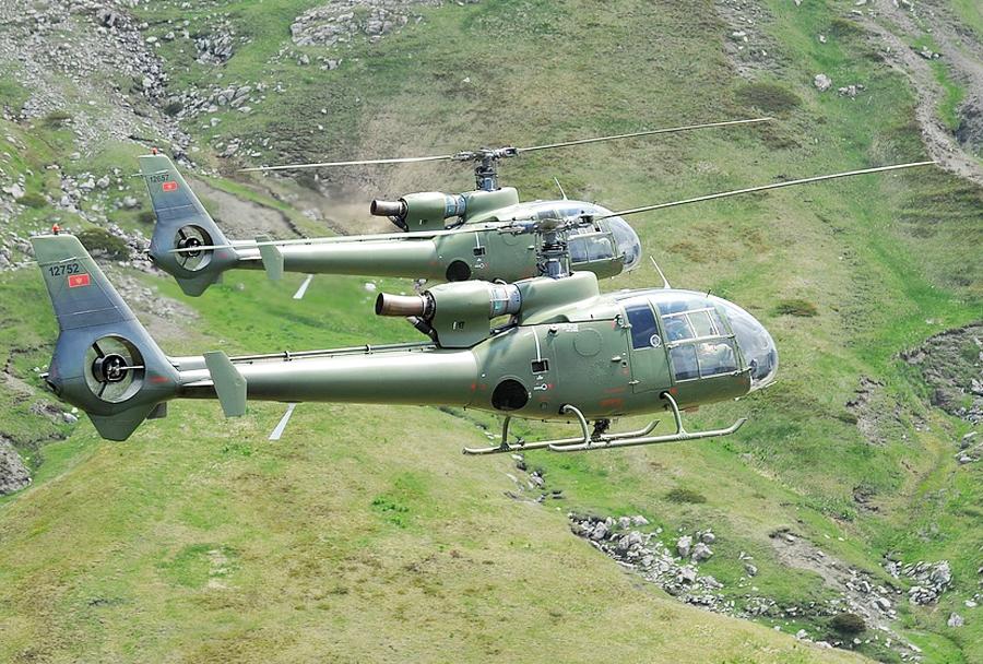 Črnogorski helikopter SA-341 gazela