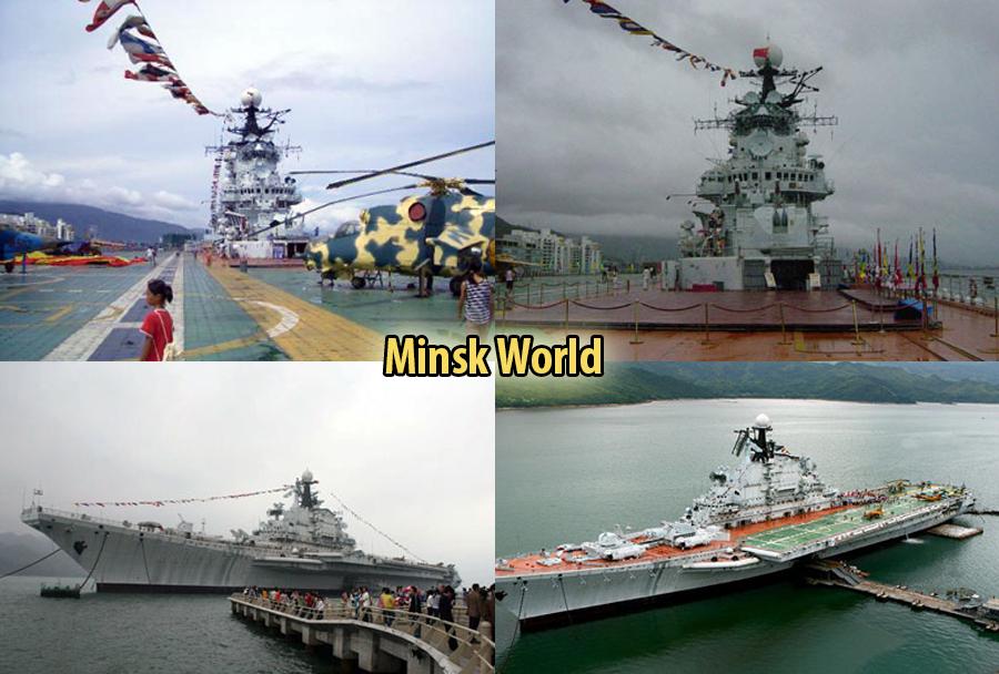 Vojaški tematski park Shenzhen na nosilki helikopterjev Minsk razreda Kijev