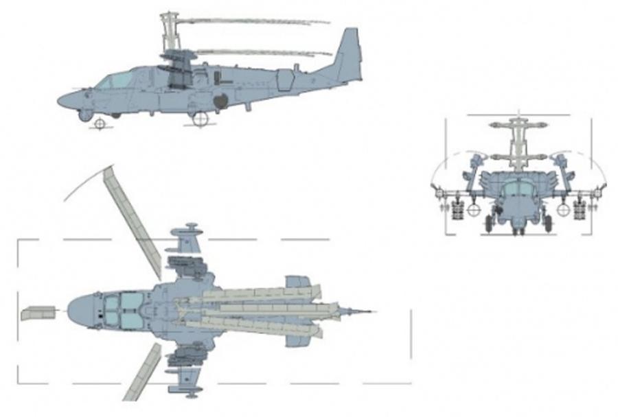 Koncept: palubni helikopter Ka-52K katran