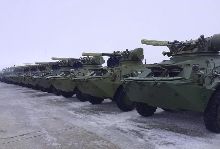 Ukrajinska vojska - oklepna vozila pehote BTR-3E