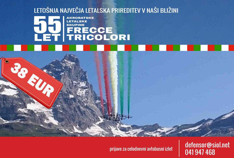55-let Frecce Tricolori, Rivolto, Italija