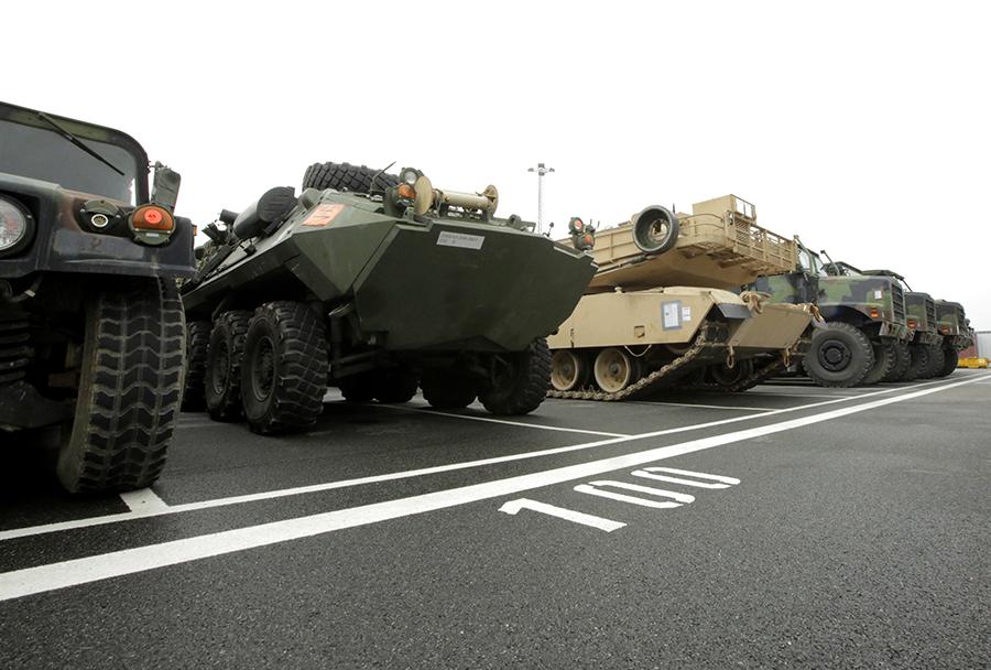 Ameriški marinci prispeli v Bremerhaven v Nemčiji