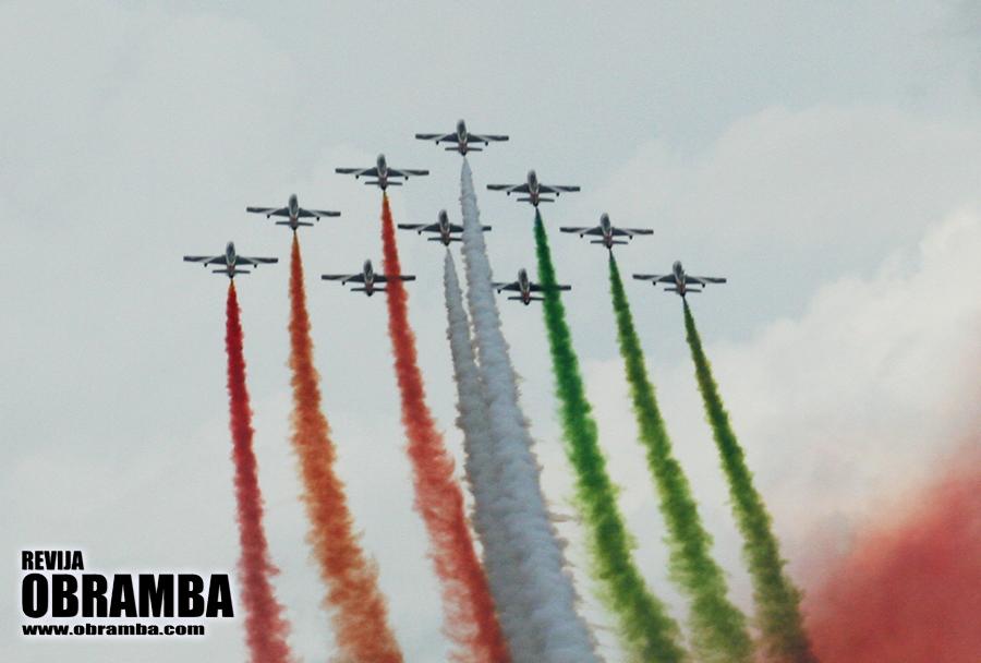 Rivolto 2015: akrobatska letalska skupina Frecce Tricolori