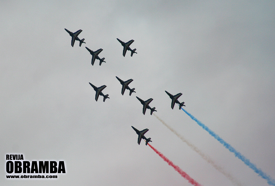 Rivolto 2015: akrobatska letalska skupina Patrouille de France