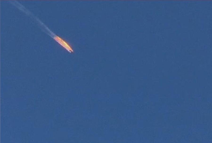 Sestreljeno rusko letalo Su-24 v Siriji