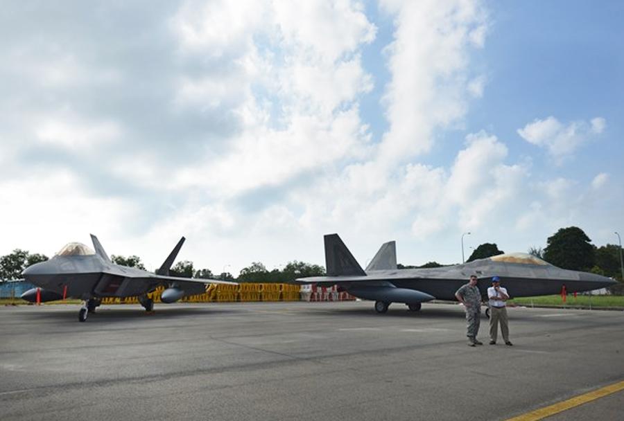 Singapur Airshow 2016 - lovca F-22
