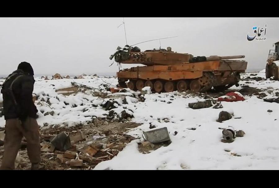 Turški tank leopard 2 v rokah ISIS-a v Siriji.