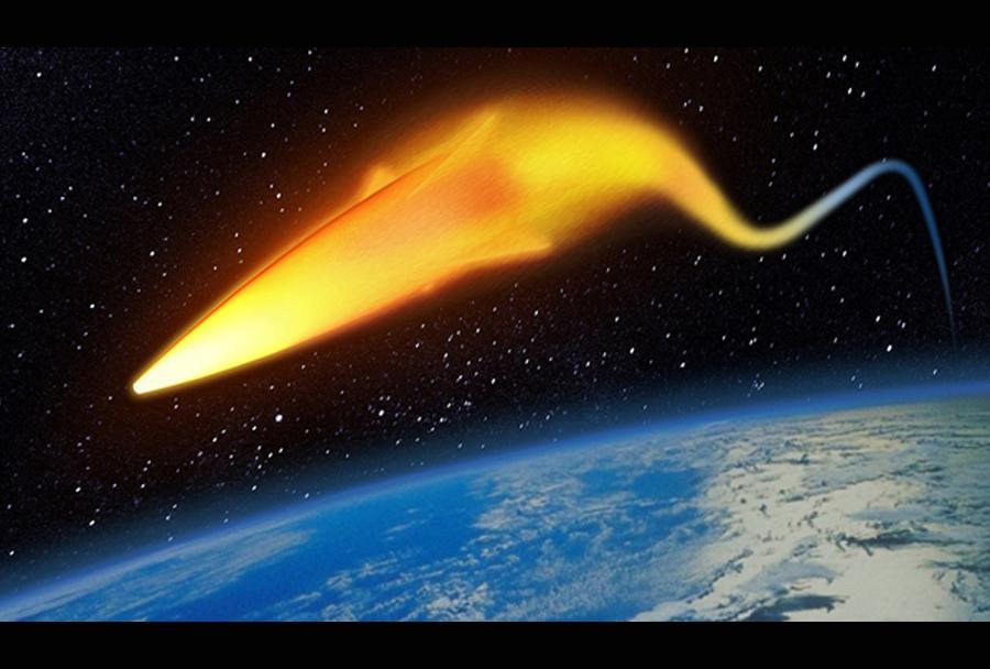 hiperzvočni izstrelek - toplotna sled