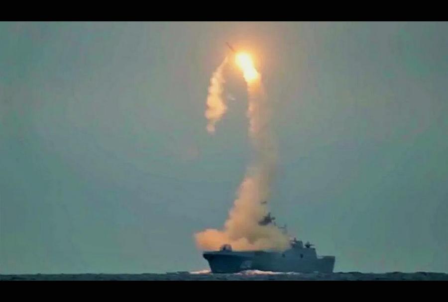 izstrelitev ruske rakete cirkon